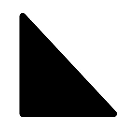 right angle triangle Illustration