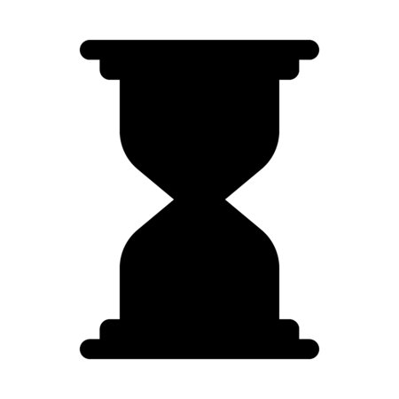 Hourglass, time measurment device Illustration