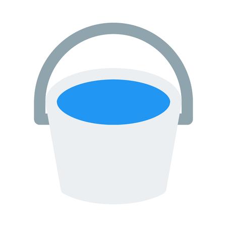 bucket isolated on white background Ilustrace