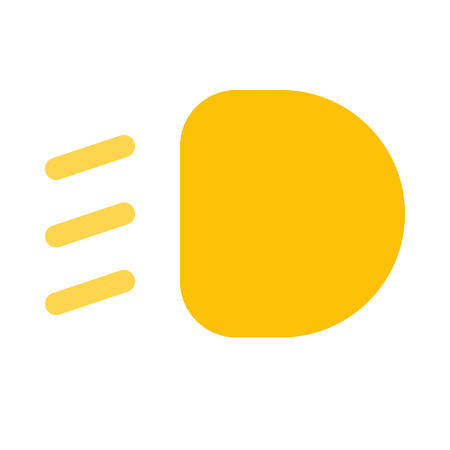 low beam light icon on isolated background Illustration