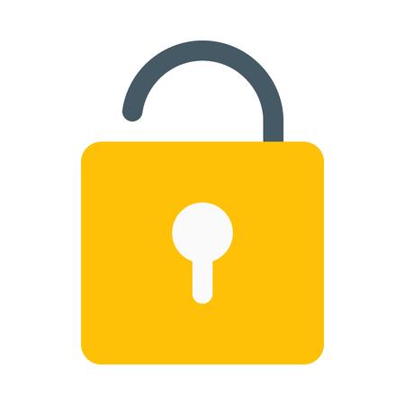 Open door padlock 向量圖像