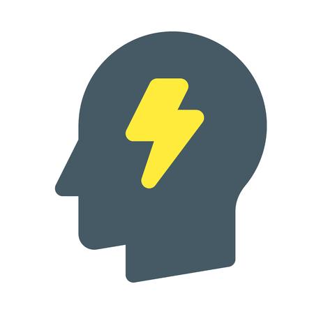 brainstorming head Vectores