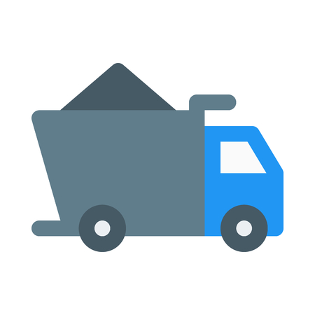 loaded dump truck icon on isolated background Иллюстрация