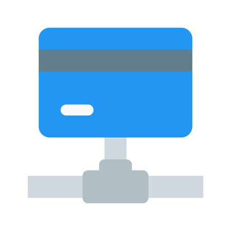 credit card connection Illustration