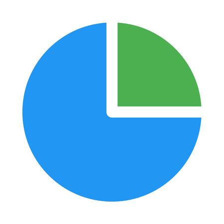 pie chart quarter Vecteurs