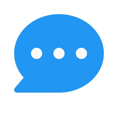 chat messenger Vector Illustratie