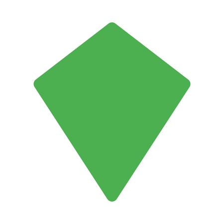 kite shape quadrilateral Vector Illustratie