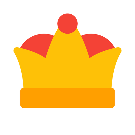 crown isolated on white background Illustration
