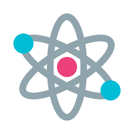 Atom protons and neutrons Illustration