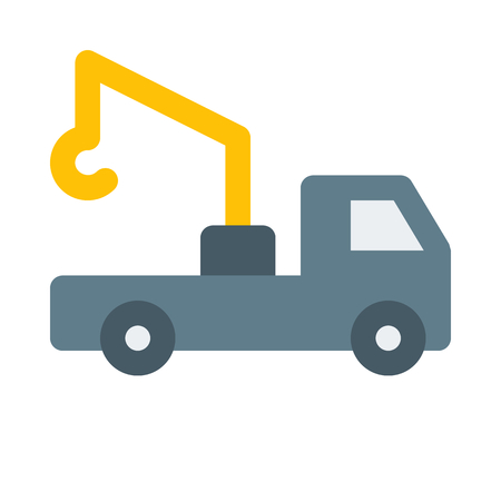 tow truck on isolated background