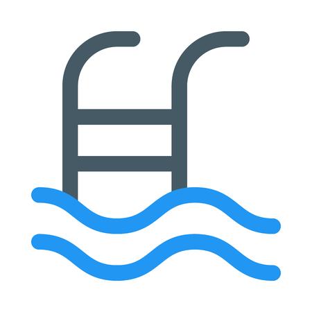 Swimming pool steps Ilustração