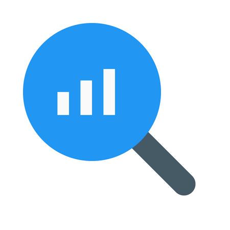 bar chart search Illustration
