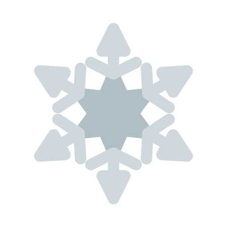 Fernlike stellar dendrites Illustration