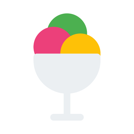 ice cream scoops Иллюстрация