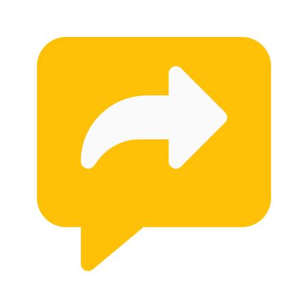 chat forward Ilustrace