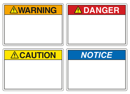 Safety signs for prevention of accidents Ilustrace