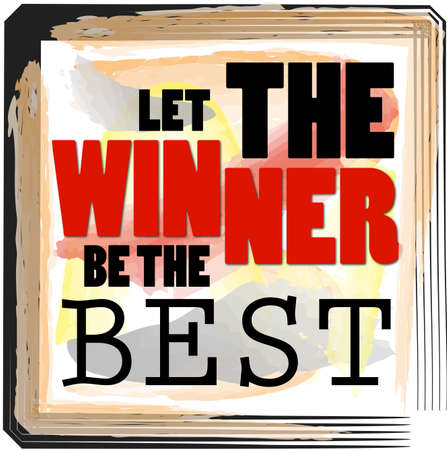 Winners Are The Best Players Text Design Slogan For Competition