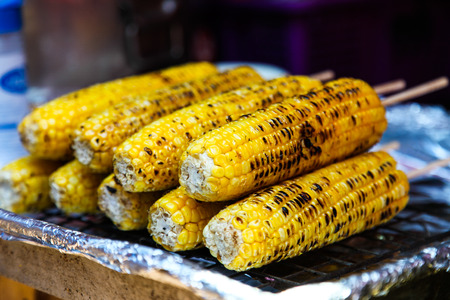 gilled: Corn  gilled on the gill. Stock Photo