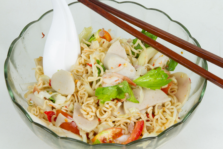 mama: Mama Instant Noodles Spicy  mix salad Fried Thai Mama Tom yum