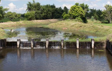irrigate: Small weir irrigate in thailand