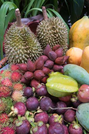 fruit mix: thai fruit mix in the market Stock Photo