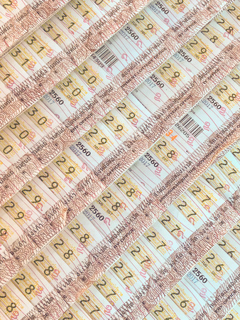 lottery tickets of thailand for sell Stock Photo