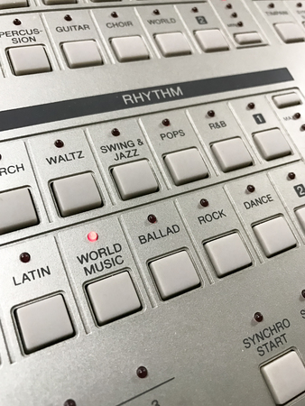 button switch for select rhythm of music