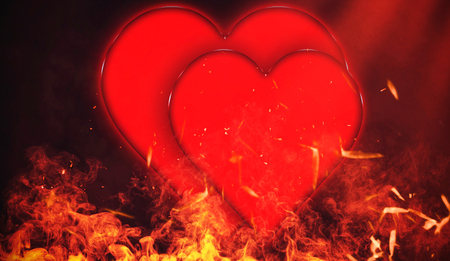Valentines Day particles embers background with copyspace
