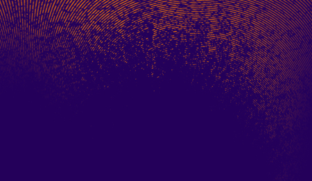 Abstract duotone background . Halftone texture . Trendy synthwave cyberpunk gradient design.