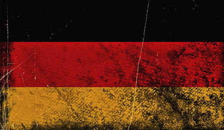 Vintage old flag of Germany. Art texture painted Germany national flag.