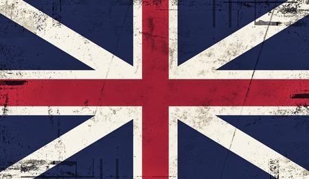Vintage old flag of United Kingdom. Art painted Britannia national flag. Reklamní fotografie