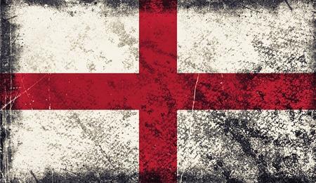 Vintage old flag of England. Art texture painted England national flag.