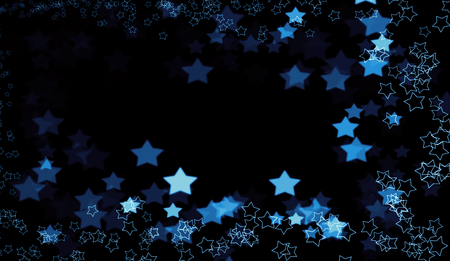 Beautiful colorful absract stars bokeh background. Stock Photo