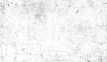 Vintage scratched grunge border overlays on isolated white background for copyspace Banco de Imagens