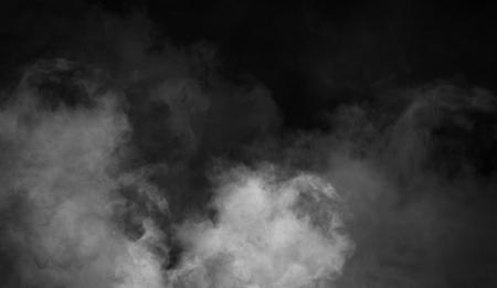 Fog and mist effect on black background. Smoke texture Standard-Bild - 118757938