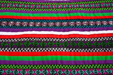 texture of native thai cloth photo
