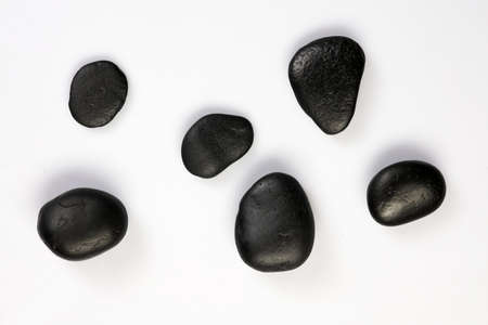 magnetic stones: SPA stones on white background
