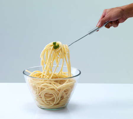 spaghetti in bowl photo