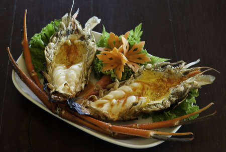grilled giant freshwater prawn photo