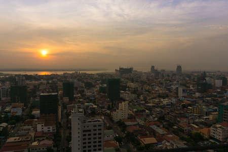 phnom penh: Phnom penh Sunrise , May 7,2016 Cambodia ,Phnom Penh