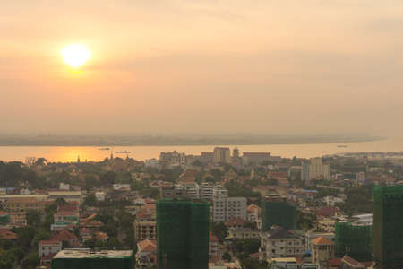 penh: Phnom penh Sunrise , May 7,2016 Cambodia ,Phnom Penh