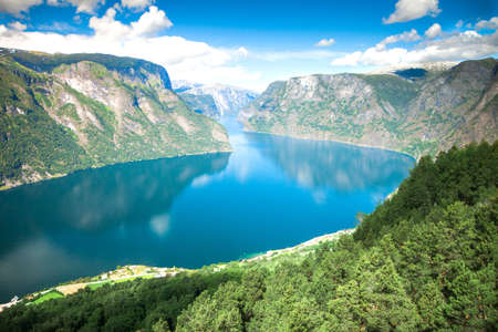 View to Sognefjord in Norway 写真素材
