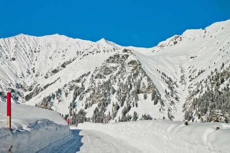 Beautiful view to Ski resort in Adelboden, Berner Oberland, Switzerland Stock Photo - 16435654