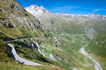 Mountain road, Sustenpass, Central Switzerland Stock Photo