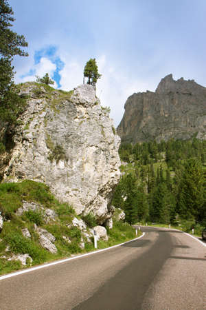 Mountain road, Dolomites photo