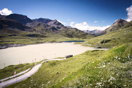 Bernina Mountain pass in Swiss Alps near St  Moritz Stock Photo - 18005200