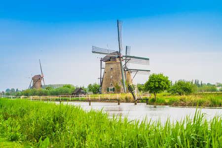 Dutch mills in Kinderdijk, Netherlands