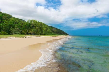 Tropical beach on the Moreton Island, Queensland, Australia