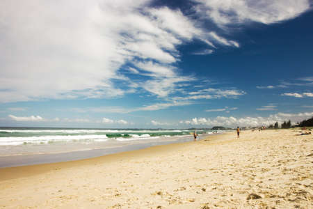One of the most beautiful beaches on the world, Gold Coast, Queensland, Australia Stock Photo