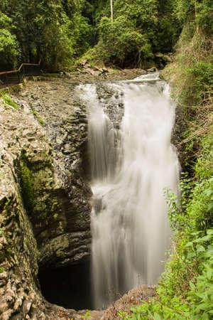 Natural bridge waterfall in Springbrook National Park, Gold Coast, Australia
